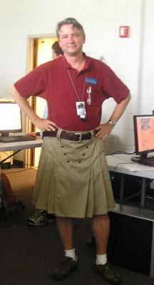 Dale in his kilt, GHP 2006