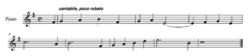 Symphony #1, 4th mvt. theme