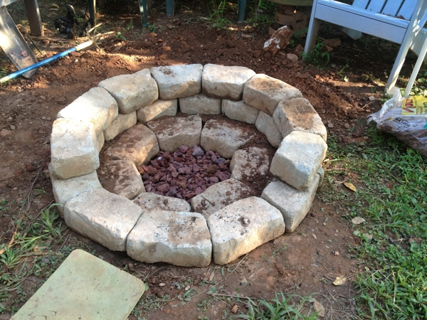 A fire pit worthy of the labyrinth dale says for Making a fire pit with rocks